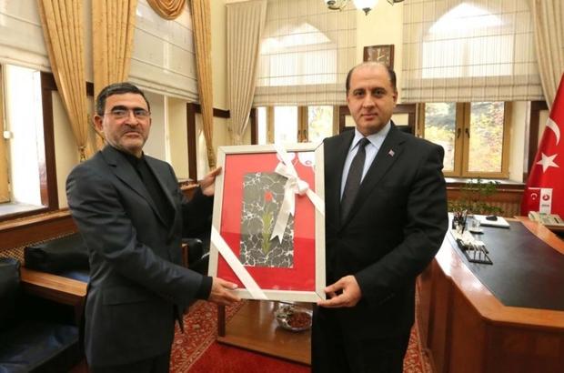 İRAN TRABZON BAŞKONSOLOSU KONDARİ'DEN VALİ ÇOMAKTEKİN'E ZİYARET