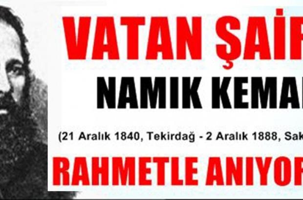 "BAŞKAN ALBAYRAK, ""VATAN ŞAİRİ NAMIK KEMAL'İ SAYGI VE RAHMETLE ANIYORUZ"""