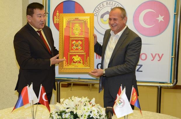 MOĞOLİSTAN HEYETİ DÜZCE'DE AĞIRLANDI