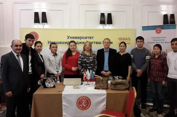 REKTÖR KILIÇ KAZAKİSTAN'DA 'TÜRK ÜNİVERSİTELERİ TANITIM GÜNLERİ' FUARINA KATILDI