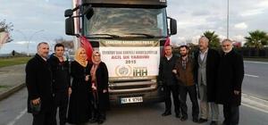 SURİYE'DEKİ SAVAŞ MAĞDURLARINA TRABZON'DAN 6 TIR UN GÖNDERİLİYOR