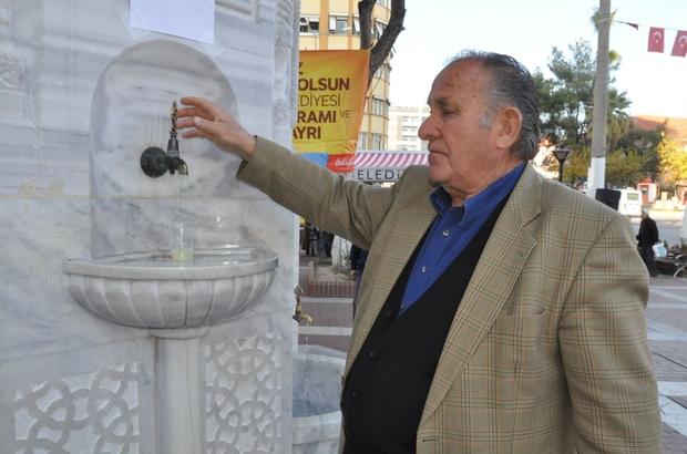 NAZİLLİ'DE OSMANLI ÇEŞMESİNDEN ŞERBET AKTI