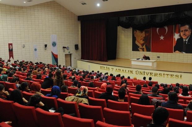"7 ARALIK ÜNİVERSİTESİ'NDE  ""MİLLİ ŞAİRİMİZ MEHMET AKİF ERSOY"" KONFERANSI"