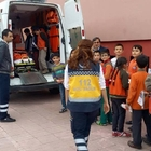"""ERFELEK'TE ÖĞRENCİLERE """"112 ACİL SERVİS"""" TANITILDI"""