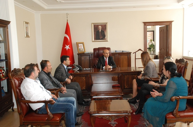 AZERBAYCAN MİLLETVEKİLİ PAŞAYEVA'DAN VALİ DEMİRTAŞ'A ZİYARET