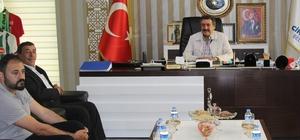 ALTINEKİN BELEDİYE BAŞKANI DERE'DEN BAŞKAN KALE'YE ZİYARET