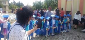 Sultandağı'nda minik öğrencilerin mezuniyet heyecanı