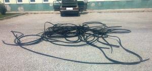Konya'da kablo hırsızlığı