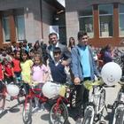 Merzifon'da 180 öğrenciye bisiklet dağıtıldı
