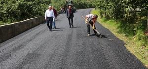 Güce Belediyesinin asfaltlama çalışmaları