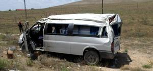 Kahramanmaraş'ta minibüs devrildi: 1 yaralı