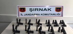 Şırnak'ta 11 tabanca ele geçirildi