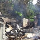 Borçka'da ev yangını