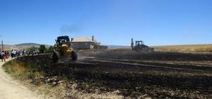 Yalıhüyük'te buğday ekili alanda yangın