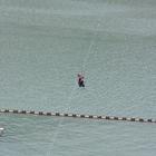 """Artvin'de, baraj gölüne kurulan """"zipline"""" hizmete açıldı"""