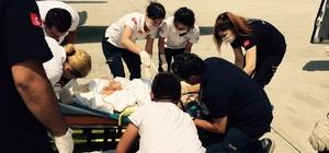 Ambulans uçak aynı anda iki hastaya umut oldu
