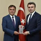 Başkanı Çimen Köse ve Şiran'ı ziyaret etti.