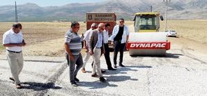 Karaman Belediyesinden Kazımkarabekir Belediyesinee asfalt desteği