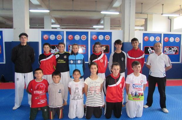 Kavak'ta karate kursu açıldı
