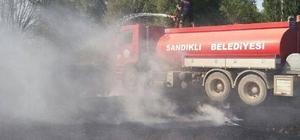 Serban'da anız yangını