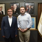 AK Parti Gençlik Kolları Genel Başkanı Ecertaş'tan Başkan Çimen'e ziyaret