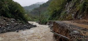 Artvin'deki şiddetli yağış