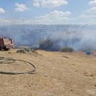 Lalapaşa'daki ot yangını söndürüldü