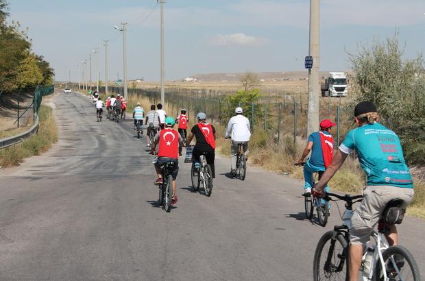 Aksaray'da 15 Temmuz şehitleri anısına bisiklet turu düzenlendi