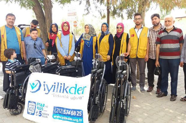 İyilikder'den 15 engelliye tekerlekli sandalye yardımı