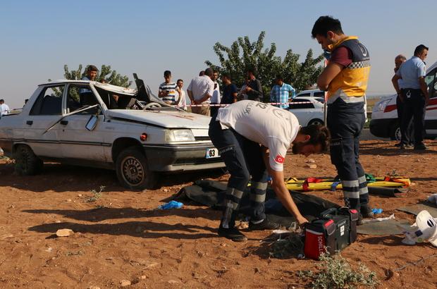 Şanlıurfa'da otomobil devrildi:  1 ölü, 4 yaralı