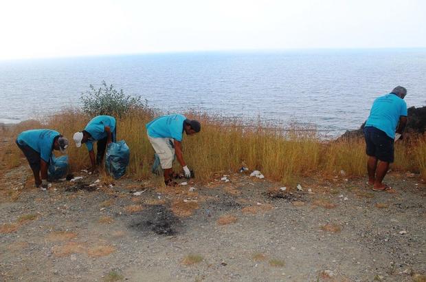 Deniz ve sahilden 437 ton atık toplandı