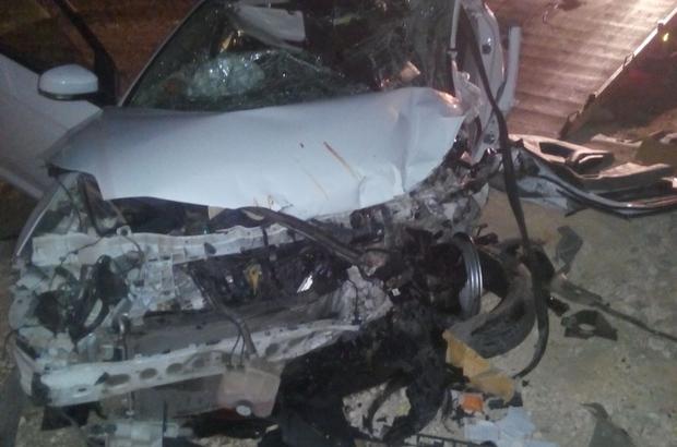 Adıyaman'da iki otomobil çarpıştı: 1 ölü, 7 yaralı
