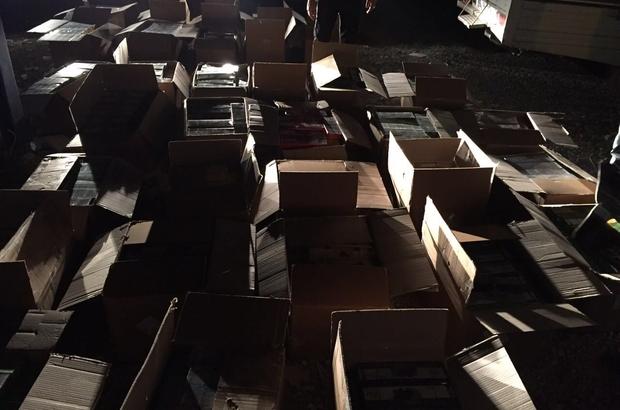 Van'da bir ton kaçak nargile tütünü ele geçirildi