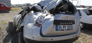 Cenazeye giden ailenin bulunduğu otomobil devrildi: 9 yaralı