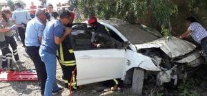 Denizli'de trafik kazası: 2 ölü, 3 yaralı
