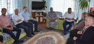 Başkan Erener'den şehit ailesine ziyaret
