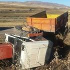 Eleşkirt'te traktör devrildi: 1 yaralı