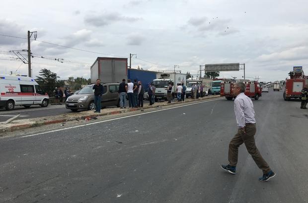 Tekirdağ'da zincirleme trafik kazası: 3 yaralı