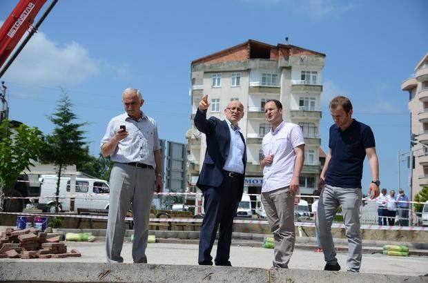 Terme Belediyesinin park yapım ve onarım çalışmaları