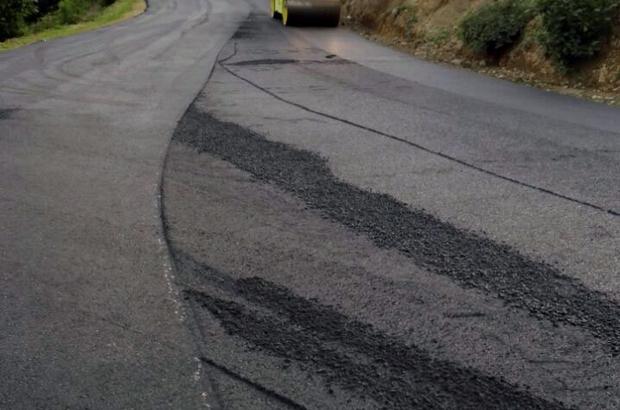Trabzon Büyükşehir Belediyesinin asfalt üretimi