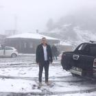Yüksek rakımlı yaylalara mevsimin ilk karı yağdı