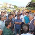 """Antalya'daki taksicilerin """"kontak kapatma"""" eylemi"""