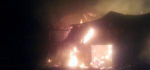 Gölova'da samanlık yangını
