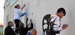 Tunceli'de grafiti çalışması