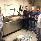 Antalyalı balıkçı 55 kilogramlık kılıç balığı yakaladı