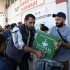 Suriyeli ailelere gıda ve battaniye yardımı