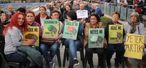 Zonguldak'ta termik santral eylemi