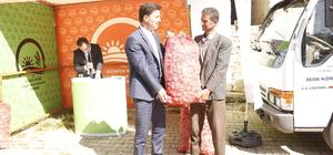Hisarcık'ta sarımsak tohumu desteği