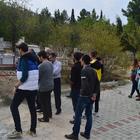 Dinar KYK öğrencilerinden şehitlere vefa ziyareti