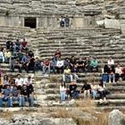 """""""Kültürel miras"""" dersini antik kentte yaptılar"""